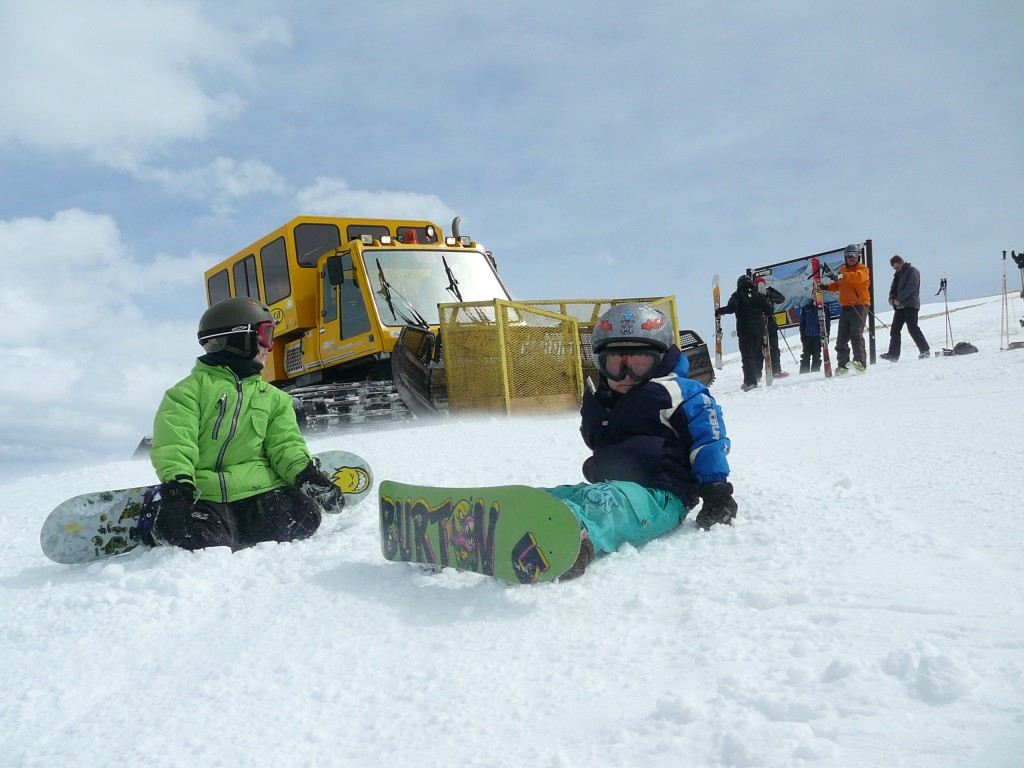 Devin, Wesley and the Snowcat